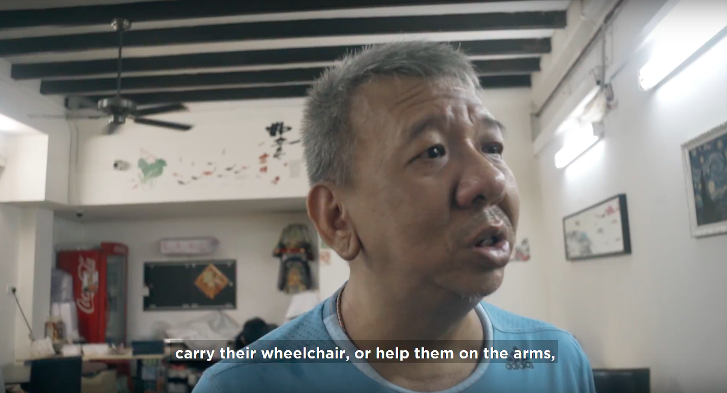 Restaurant owner Mr Wee shares how he and his staff take action to make his diverse customers feel welcome in his coffee shop at Chinatown.