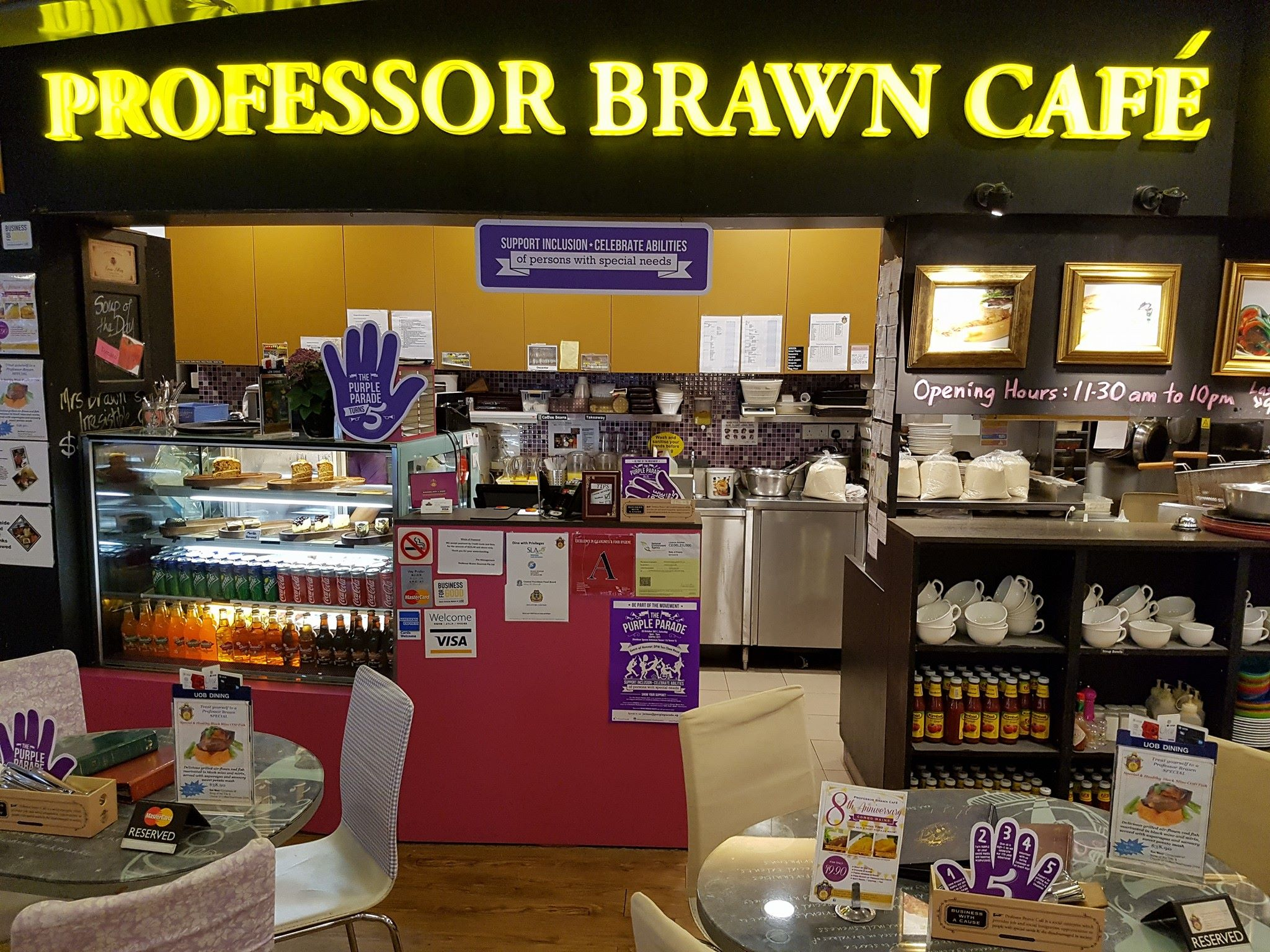 Professor Brawn serves up affordable comfort food in an inclusive setting.