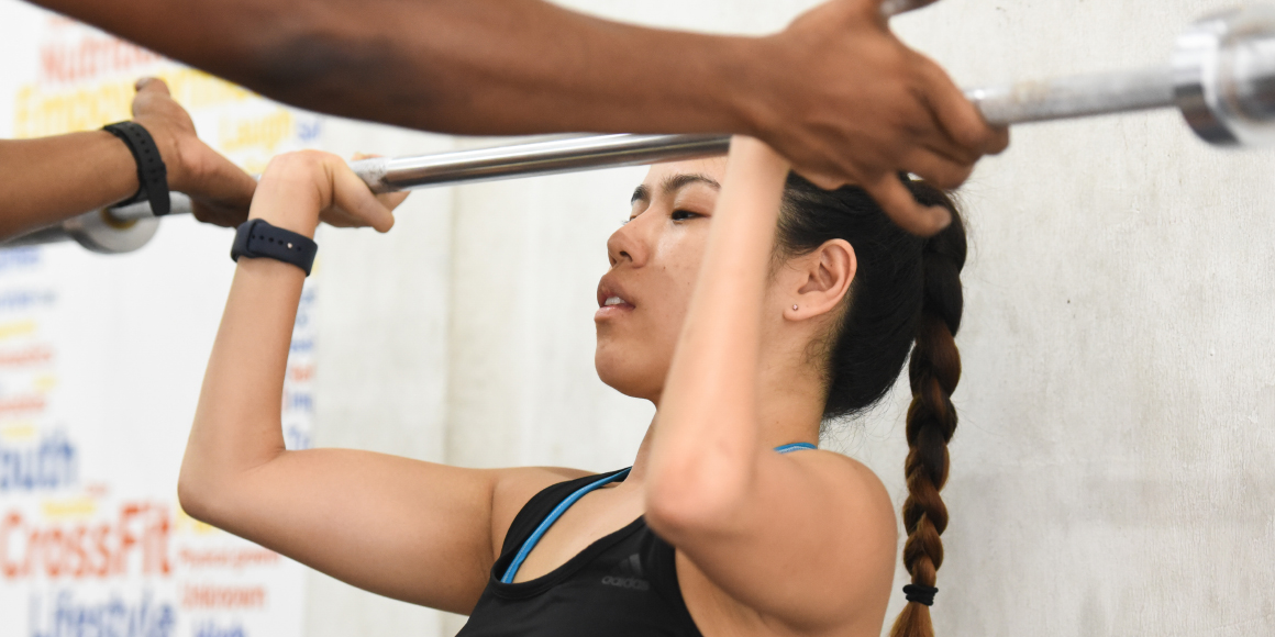 Paralympic gold medallist Pin Xiu does weightlifting in the weekly Adaptive Crossfit class at Innervate Fitness. The class is specially designed for people with disabilities.