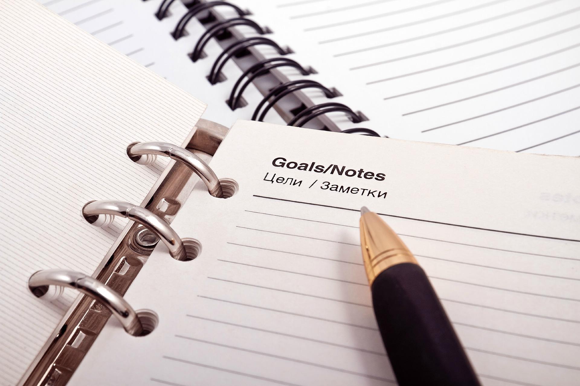 ....Klare Ziele sind der erste Schritt zu ihrer erfolgreichen Umsetzung. .. Clearly formulated goals are the first step to accomplishing them. ....