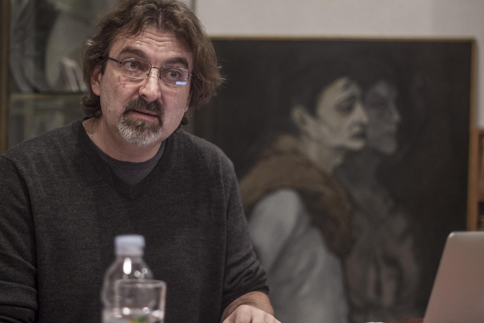 Branislav Jakovljevic Predavanje Diletantske inscenacije i teatar zločina održano 25 novembra 2015 u CZKD Foto Srdjan Veljović .jpg