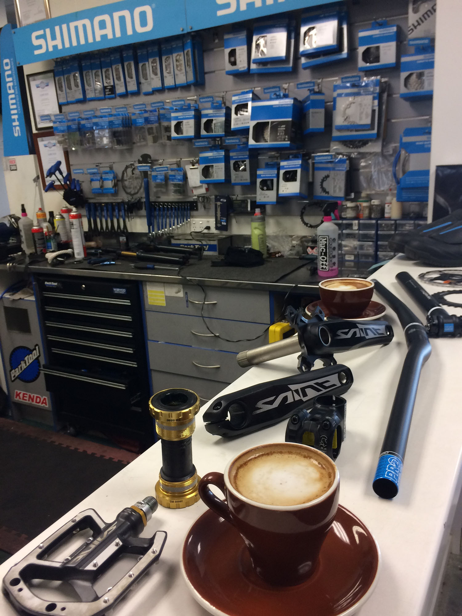 A few coffees to get the crew cranked