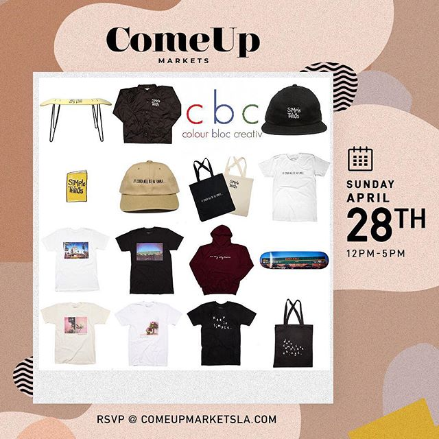 Happy to be returning back tomorrow for the @comeupla! If you're in the DTLA Arts District - feel free to stop by and check your boy out...I'll be running a special promo for all merch! #thecomeupla ———————————————————————— 608 Mateo St., Los Angeles, CA 90021 - 12pm-5pm ———————————————————————— @colourbloccreativ  @the21dayprojectbyLCD -