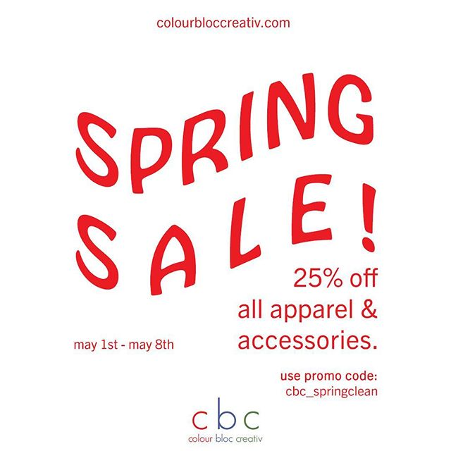 "With a lot of new stuff is in the making we first have to make room. With that being said, until May 8th we'll be offering 25% off all apparel and accessories…all you have to do is enter the promo code ""cbc_springclean"" at checkout! #linkinbio ————————————————————————