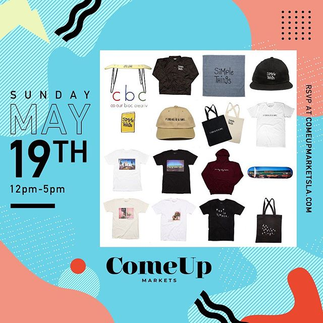 Happy to be returning back Sunday for the @comeupla! If you're in the DTLA Arts District - feel free to stop by and check your boy out...I'll be running a special promo for all merch! #thecomeupla ———————————————————————— 608 Mateo St., Los Angeles, CA 90021 - 12pm-5pm ———————————————————————— @colourbloccreativ  @the21dayprojectbyLCD -