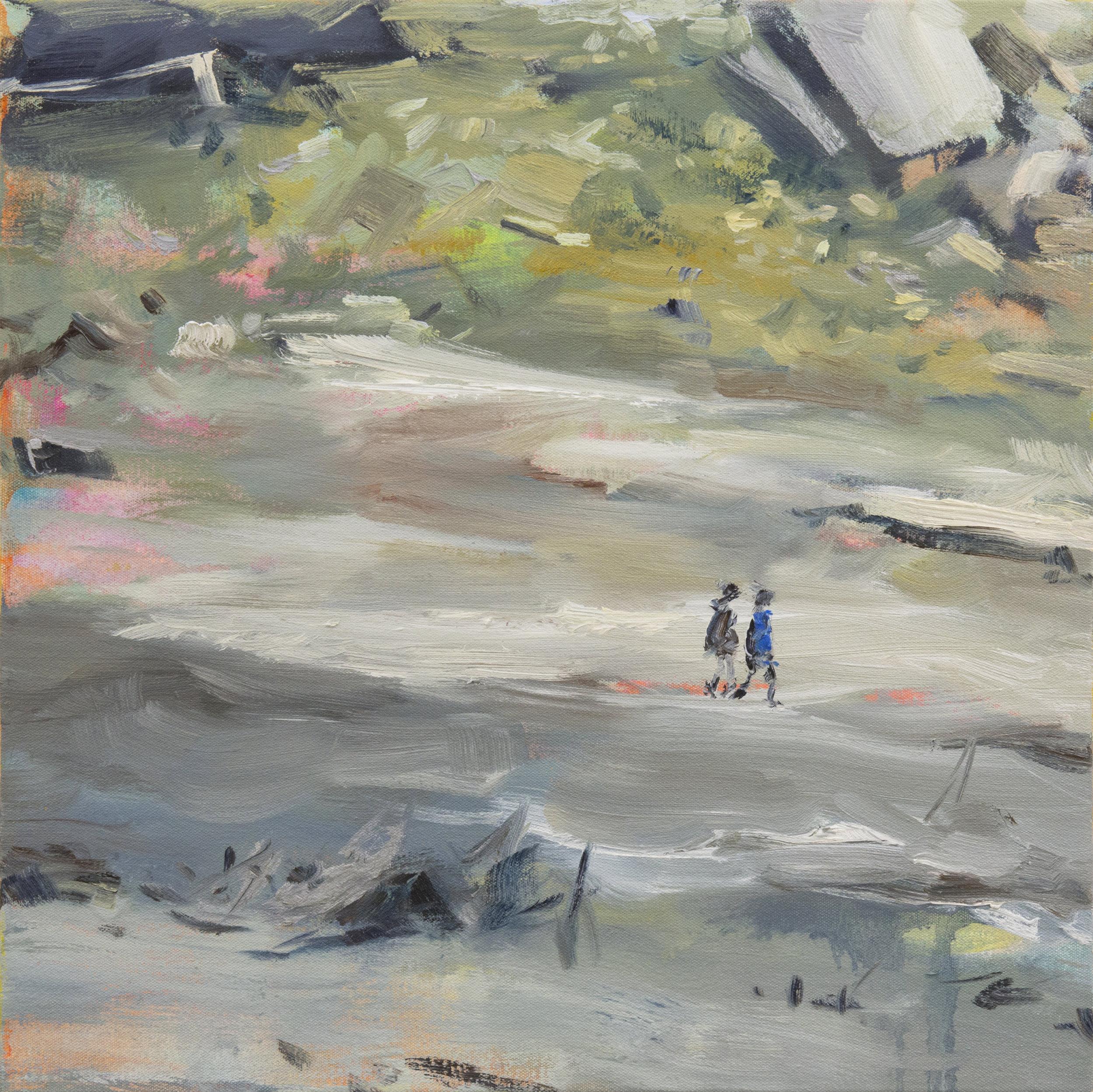 Treasure Land 2 (Silver)  50x50cm 2015 oil on canvas .jpg