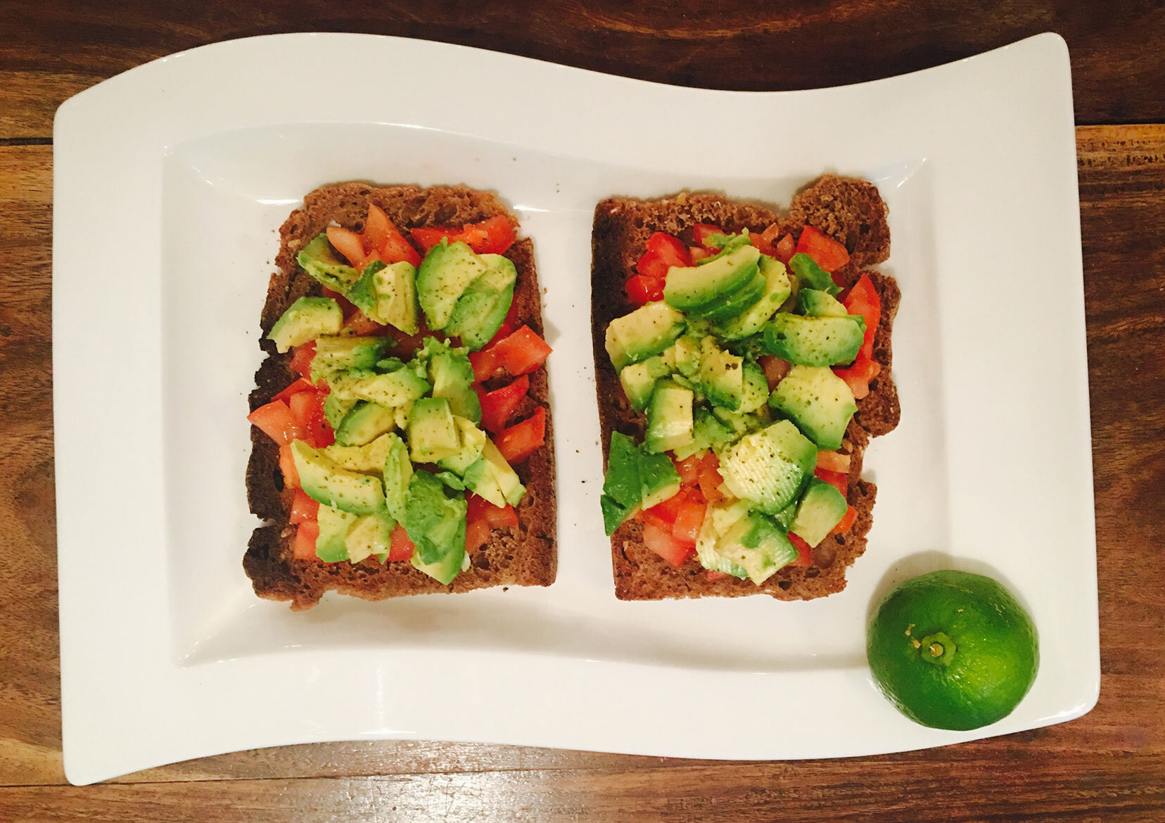 Avocado Bruschetta   Kickstart your day with this delicious and healthy snack.