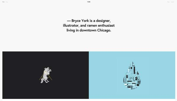 York was created with designers in mind, and it has a portfolio template that makes even the hardest creative heart sing.