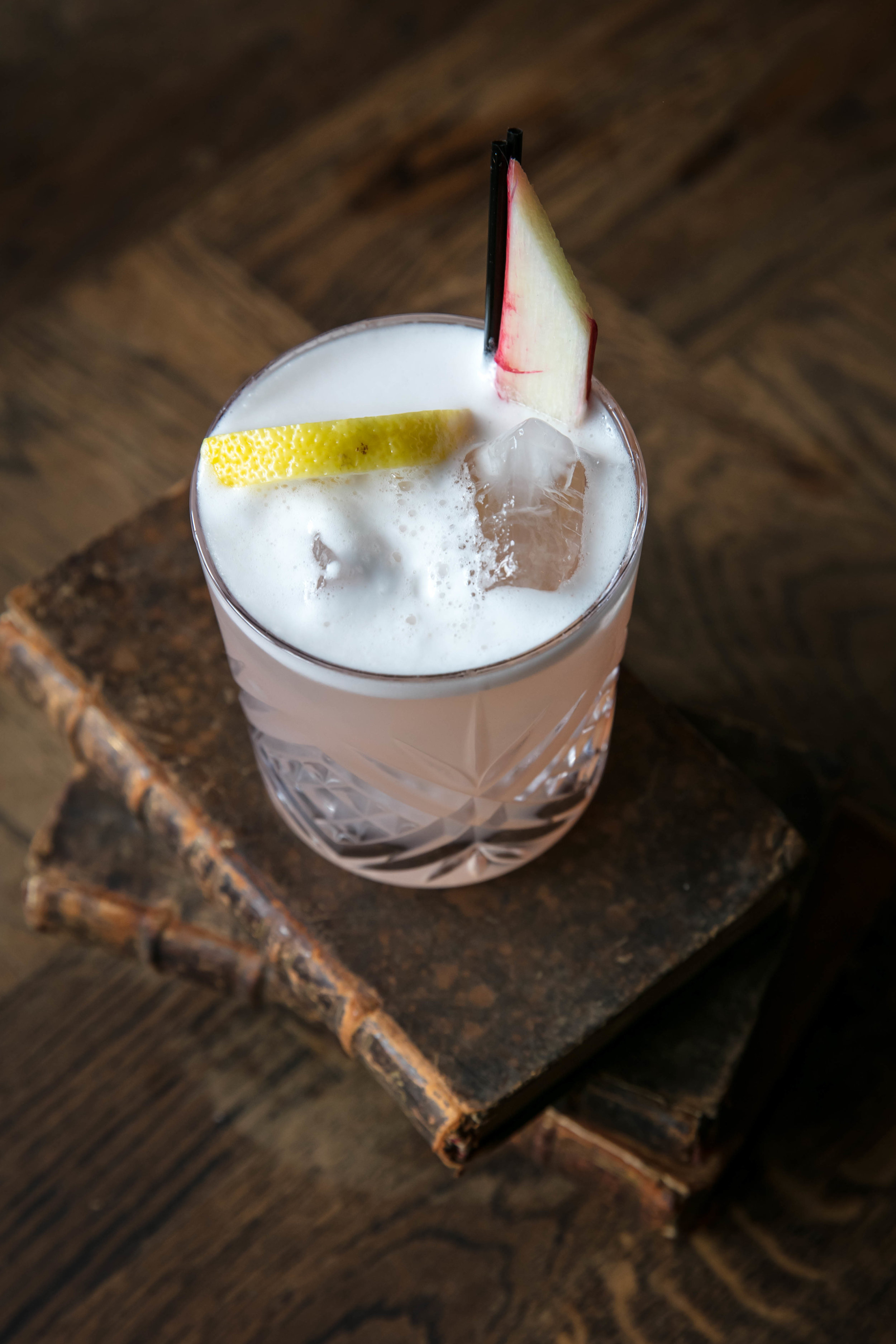 cocktail, rhubarb gin, elderflower cordial, fresh lemon &lime juice, egg white.jpg