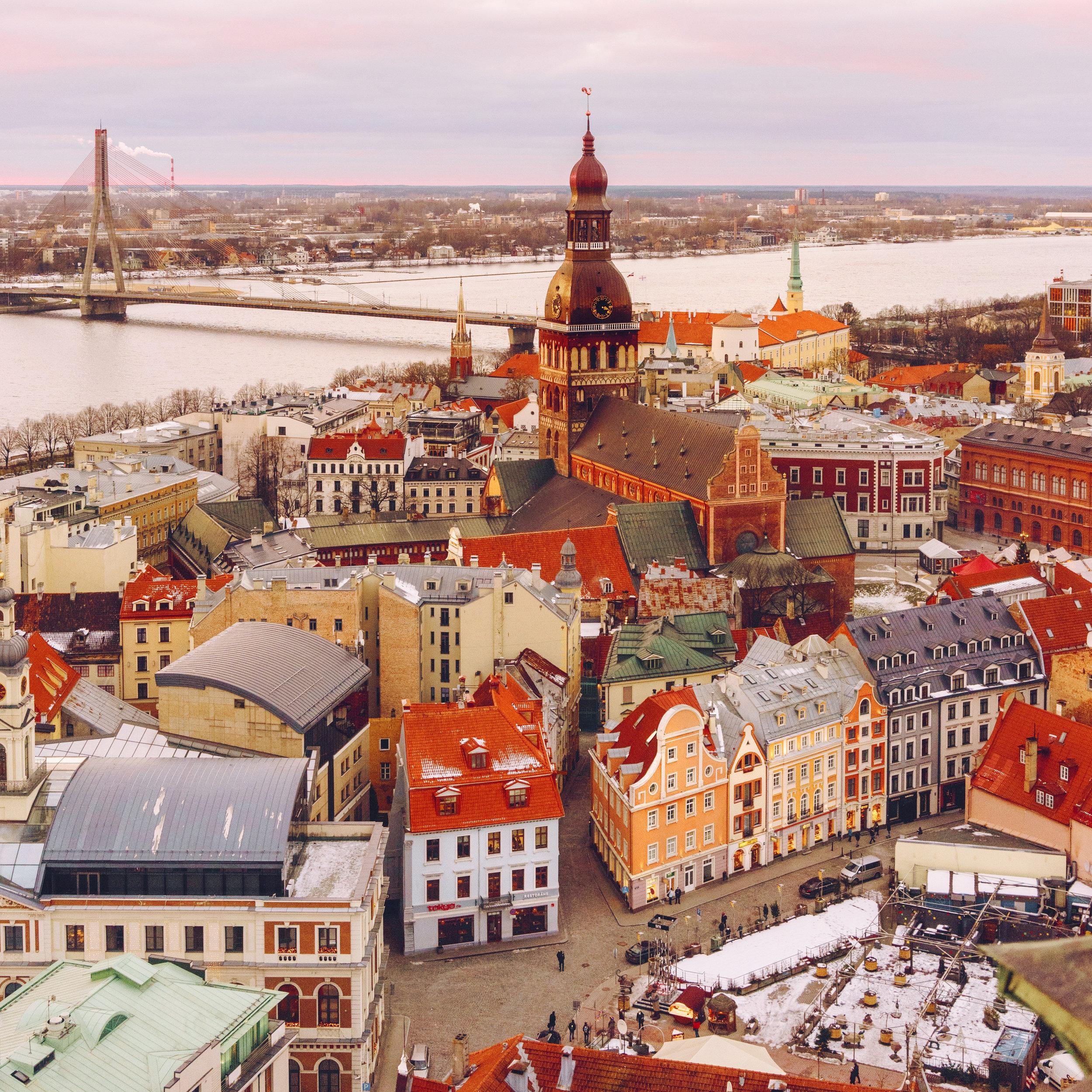 Holiday Magic in Riga, Latvia - Dec 2017