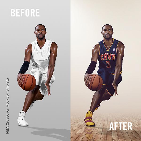 NBA Basketball Crossover Mockup Template