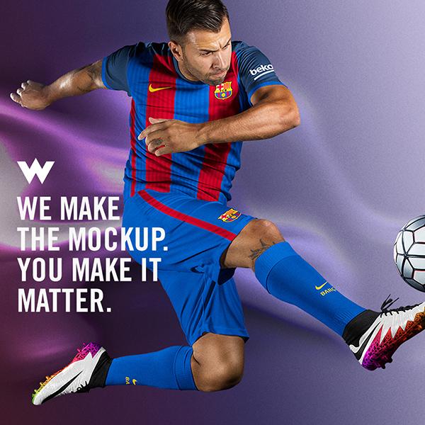 MLS Soccer Volley II Mockup Template