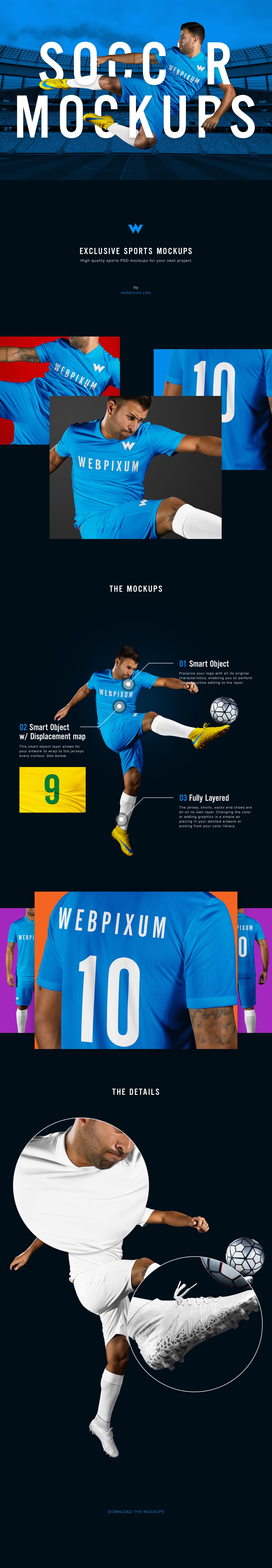 Soccer Kit Mockups Photorealistic High Quality