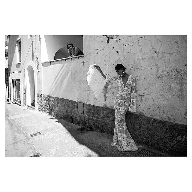 """""""Are you shooting for Dolce and Gabbana"""" .. asked everyone on Capri that day // @kristinarudy for @j.andreatta. I'm excited to be booking shoots here for summer 2019 please DM me for more info if you need Alli and her camera in #Capri this year #capriphotographer #Caprifashionphotographer #capriitaly #capri #blackandwhitephotography"""
