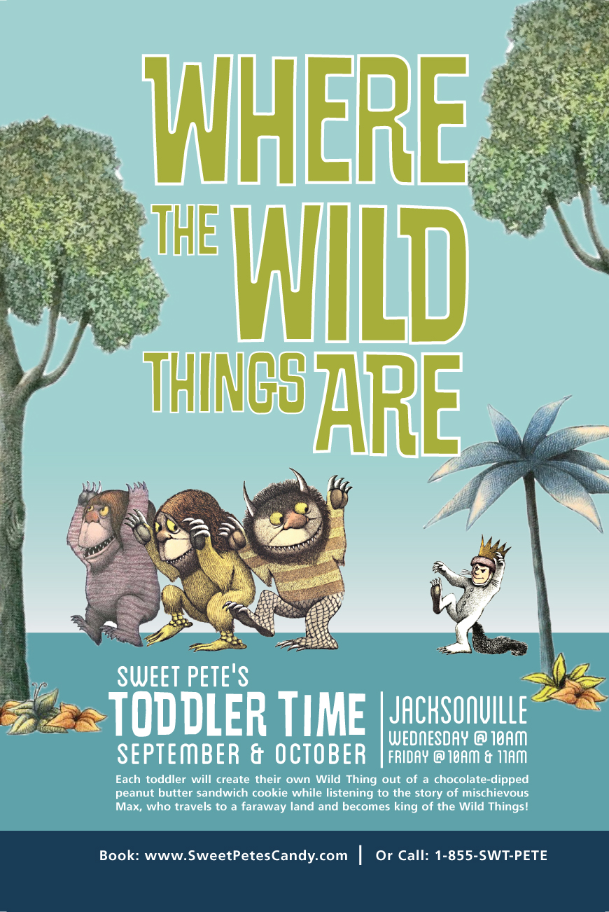 Toddler Time - monthly social marketing and print posters for in-store signage