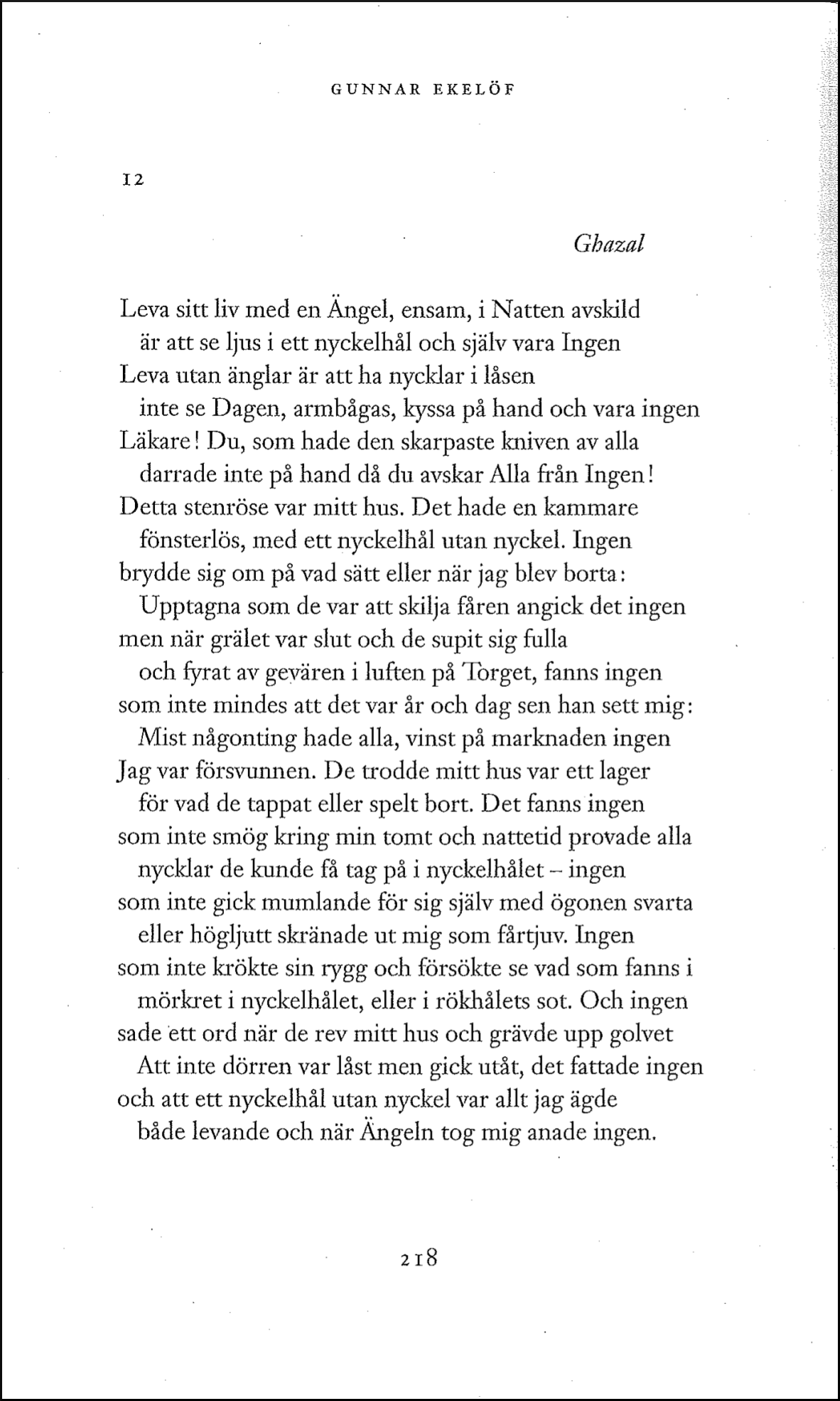 Gunnar Ekelöf, Samlade dikter II , 2017,s. 218