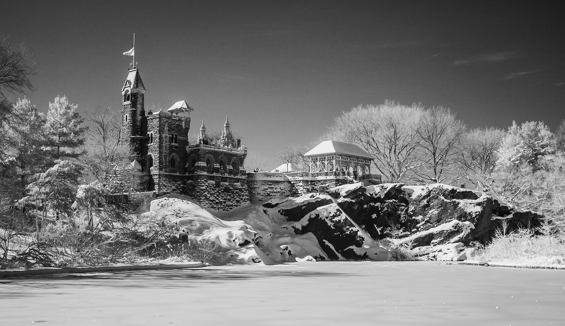 Belvedere Castle, Winter Storm Nemo 2013