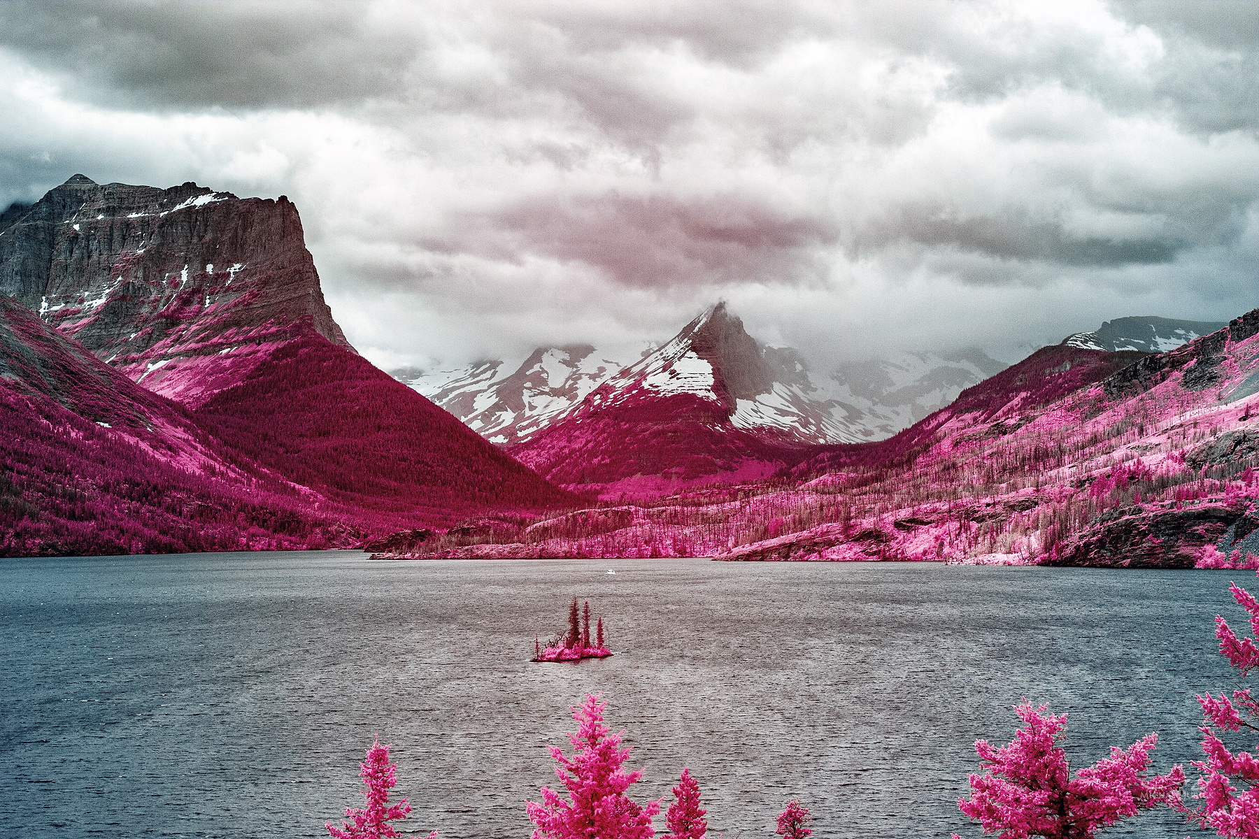 Saint Mary Lake, 2018 Color Infrared
