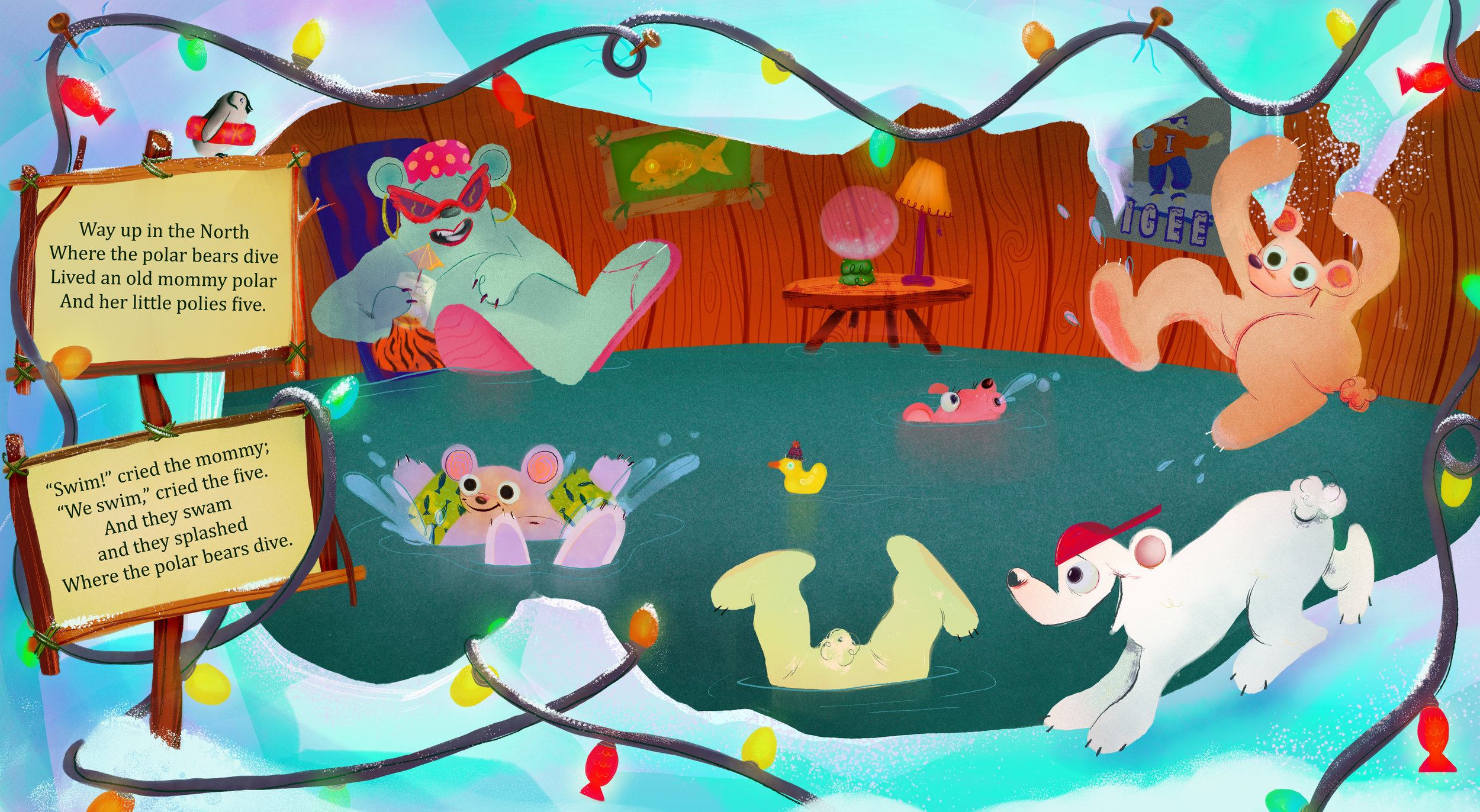 Polar Bears' Christmas Book Spread