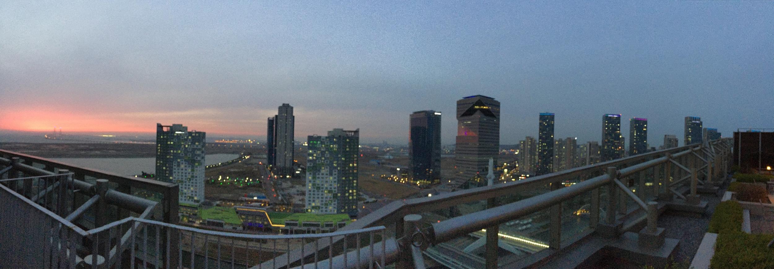 Sunset over Songdo
