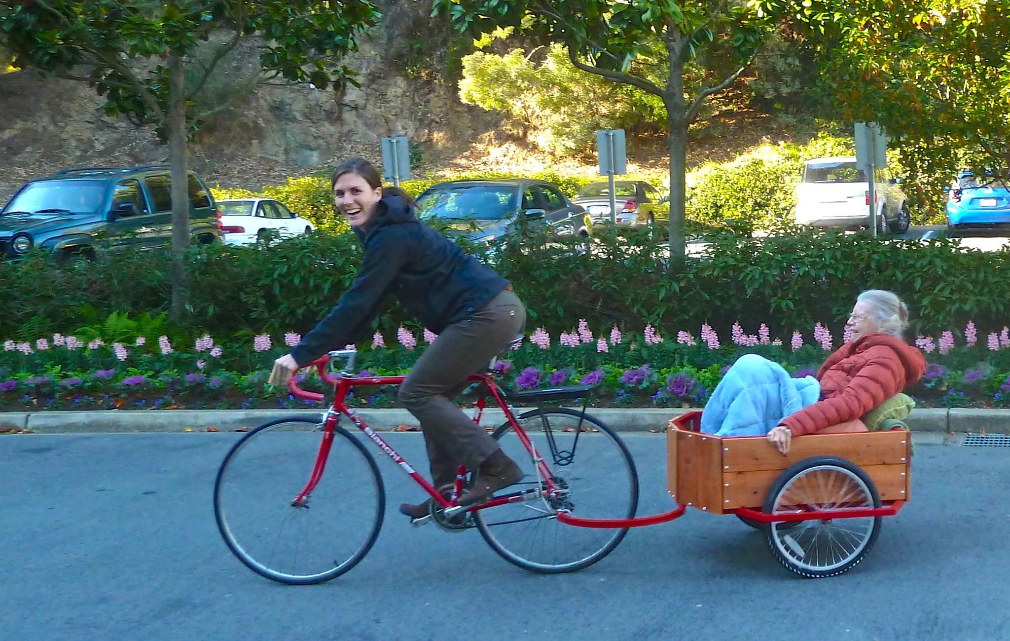 The inaugural ride of grandma in the Honeywagon