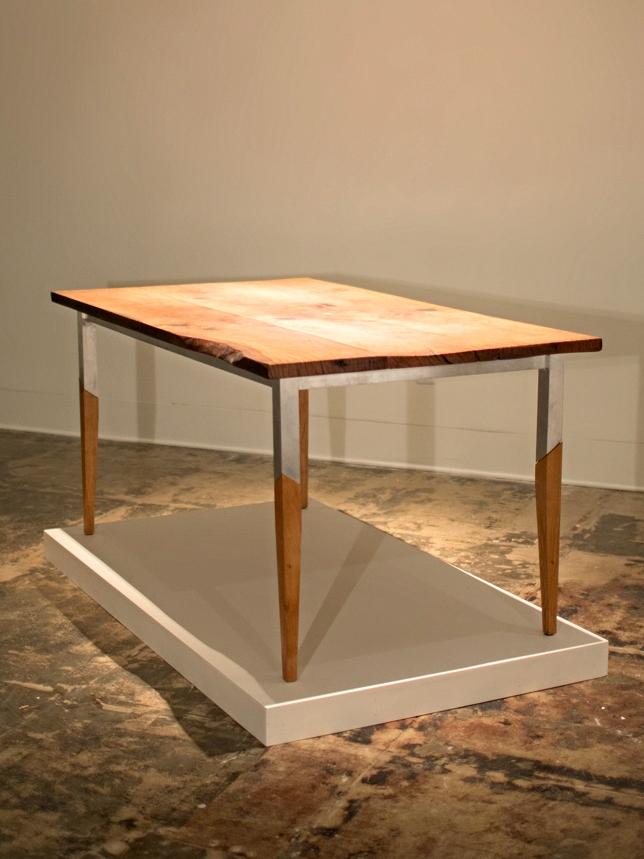 California Valley Oak & Aluminum Table