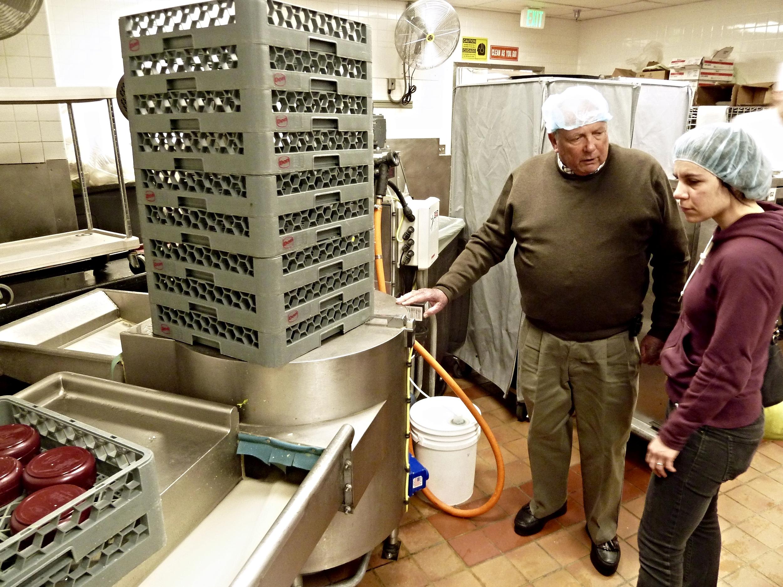 Industrial kitchen appliance salesman