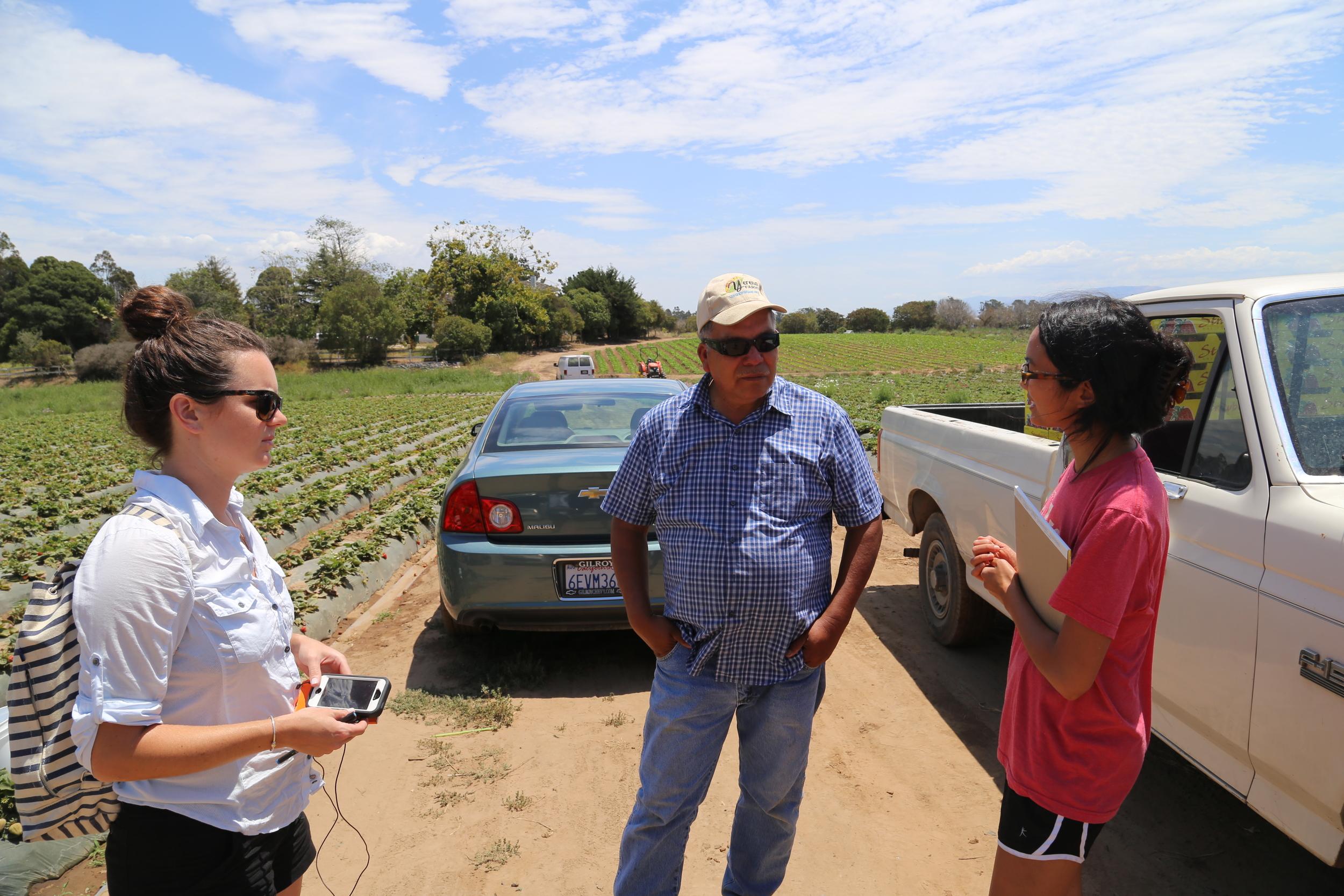Sarah & Maria interview Poli at Yerena Farms