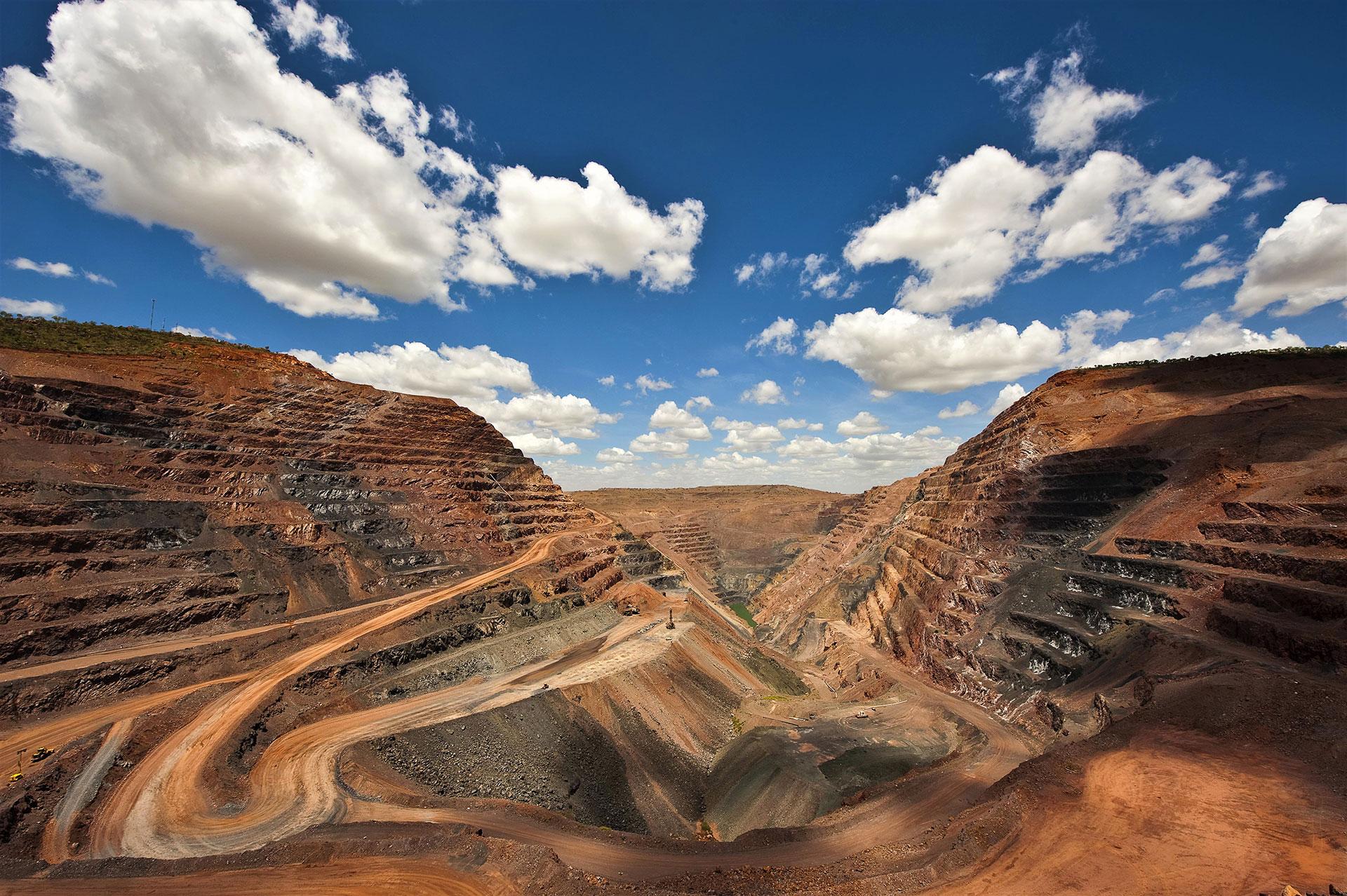 The Argyle Pink Diamond Mine in Western Australia.
