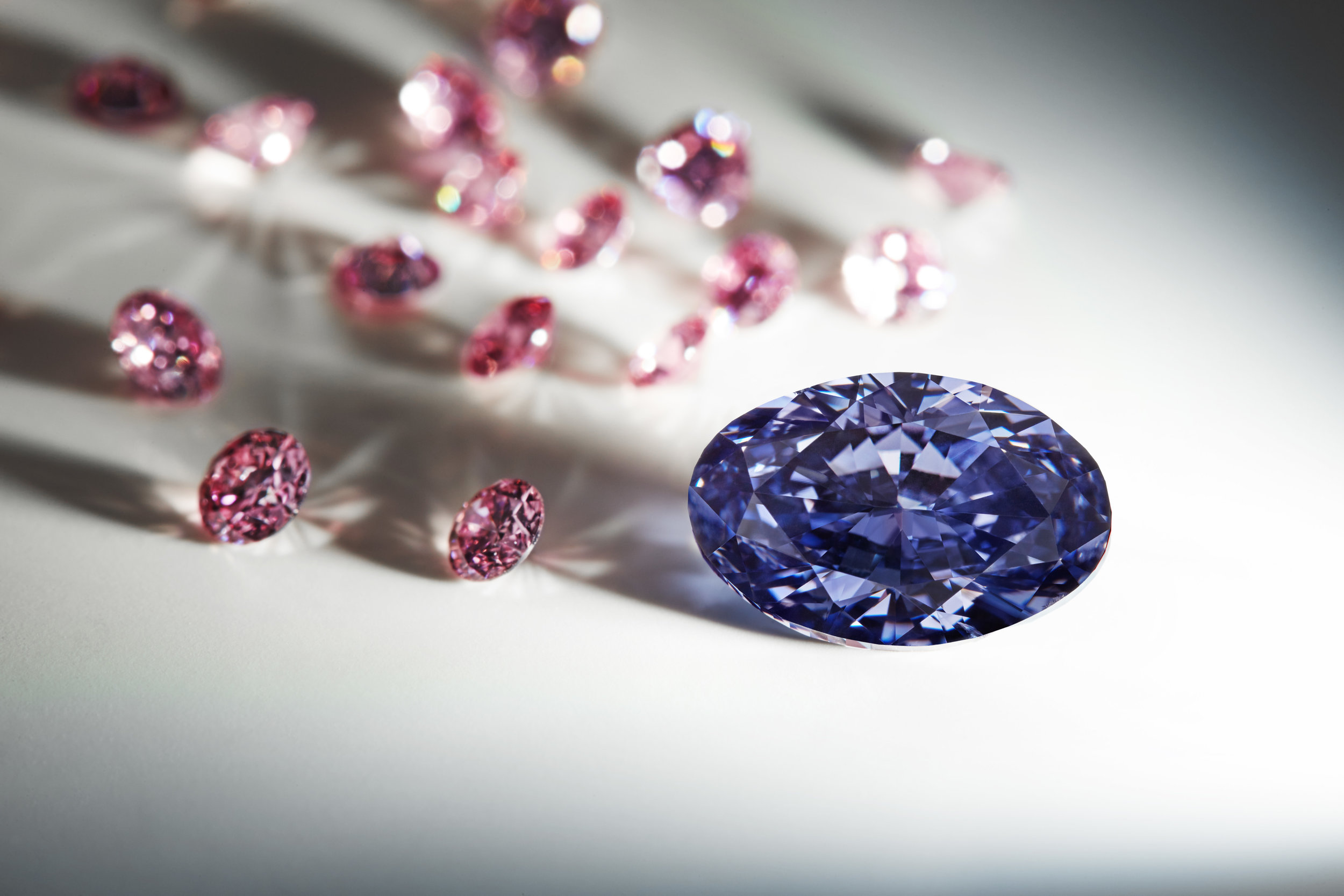 The 2.83 carat Argyle Violet diamond, an impossibly rare gem and the largest violet to ever come from the Argyle Diamond Mine.