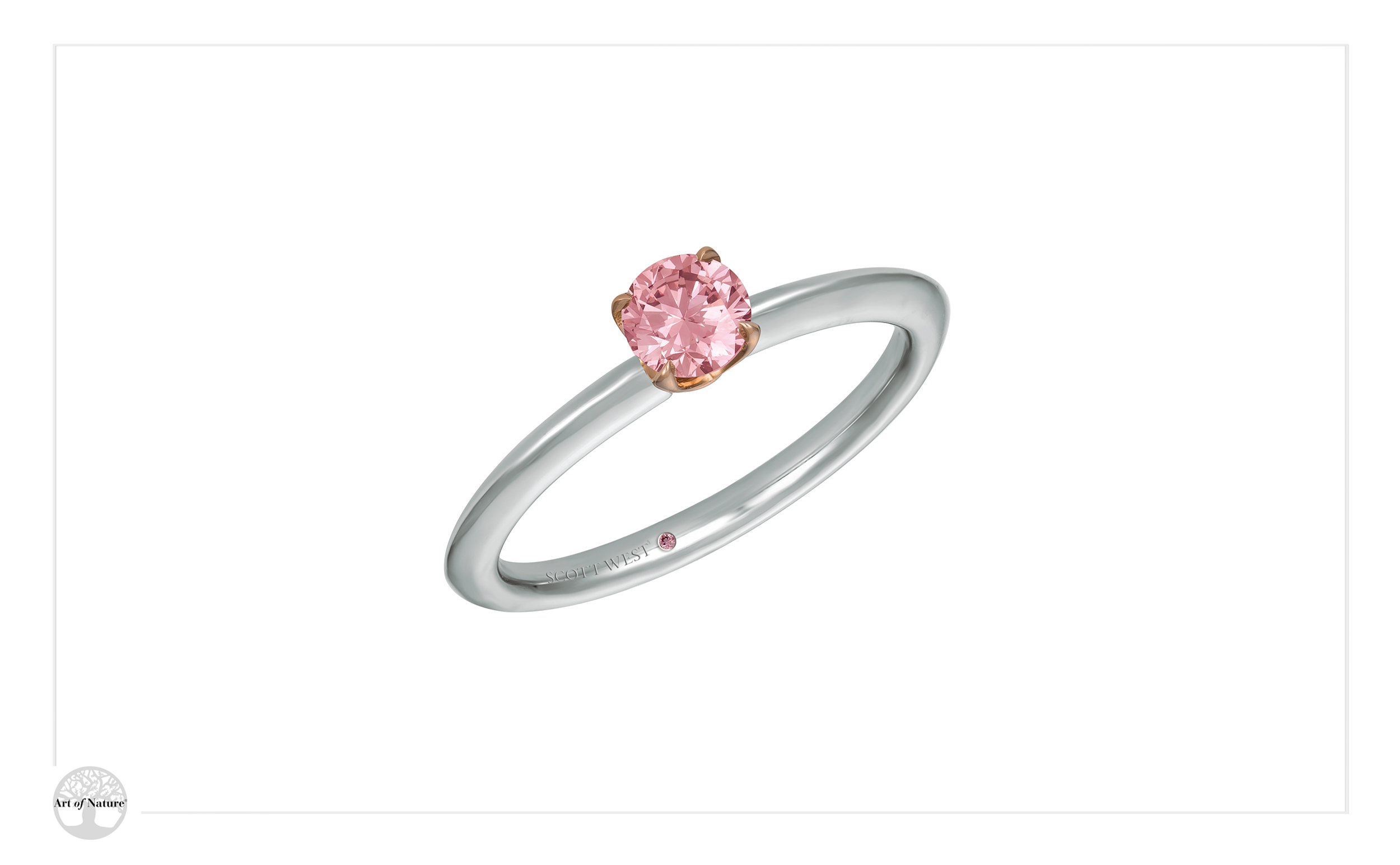 Scott West - Bridal pink solitaire ring
