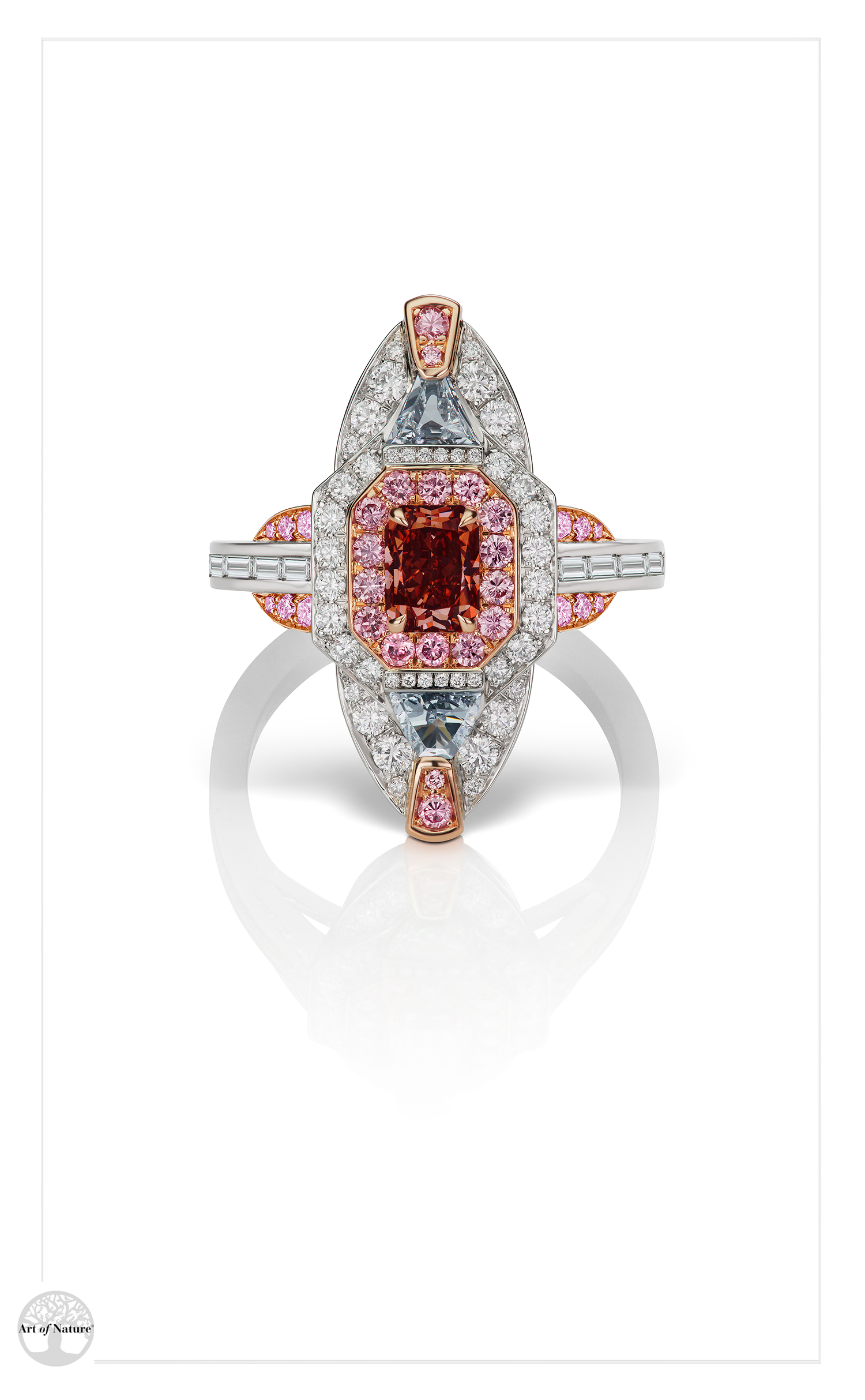 Scott West - Red Deco Cathedral ring