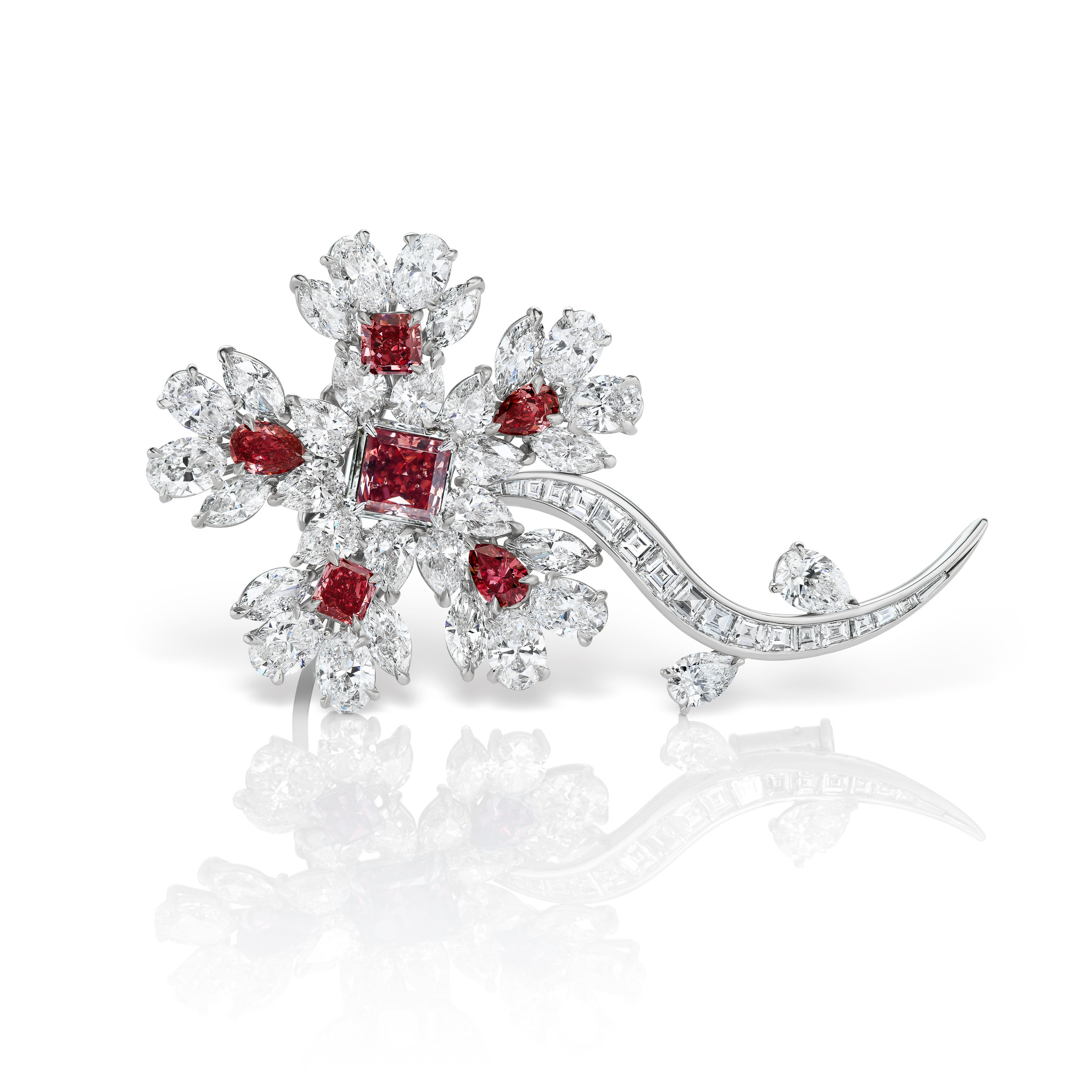 Scott West - The Red Winter Flower featuring five natural red diamonds
