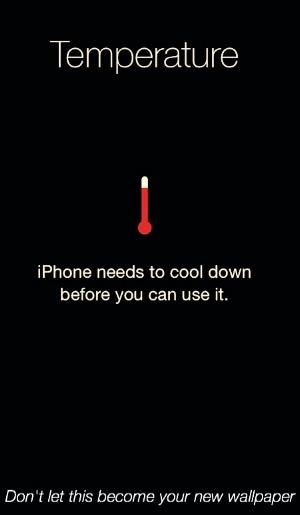 iphone overheating screen