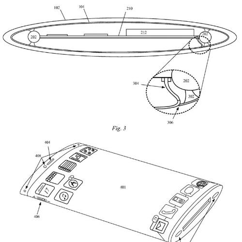 Curved design patent sketch