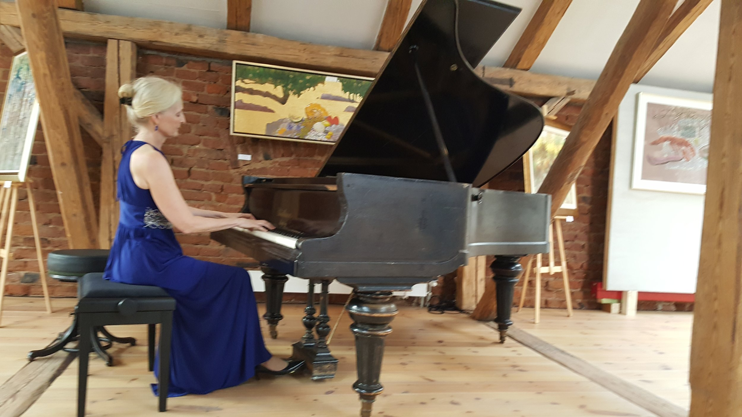 Playing concert in Paczkow, August 20, 2016