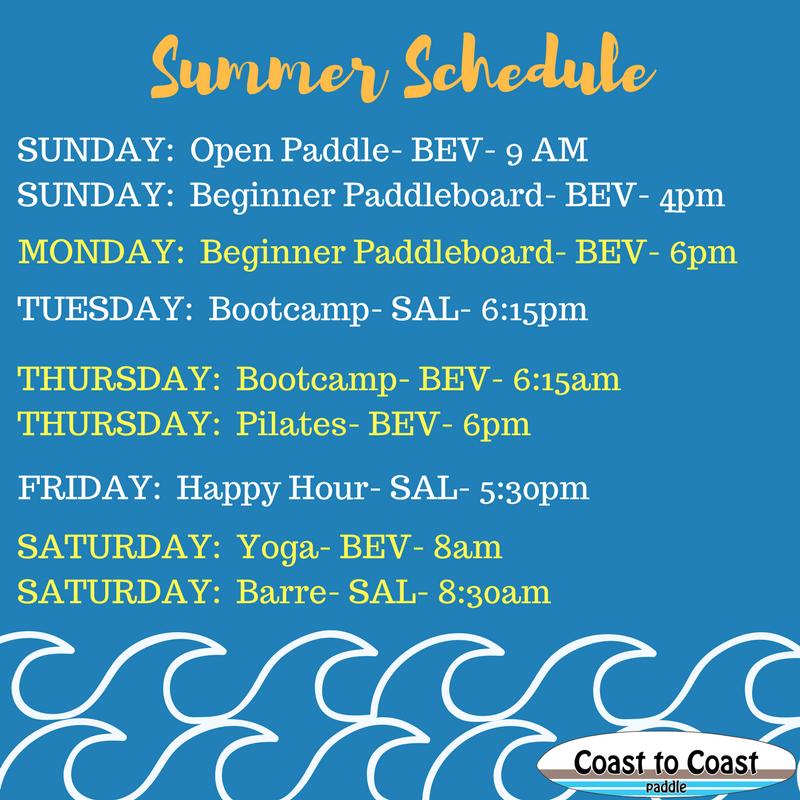 Coast to Coast Paddle Summer Paddle Schedule