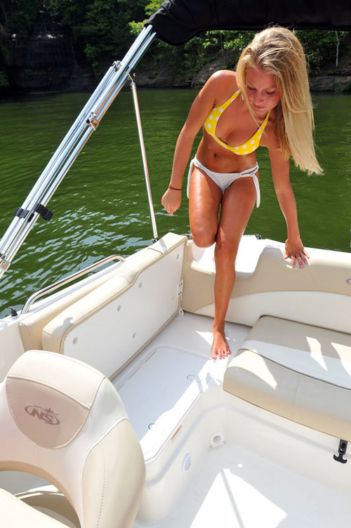 Enjoying boat ride