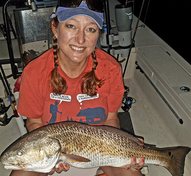 Captain Taylor - Lady with Redfish