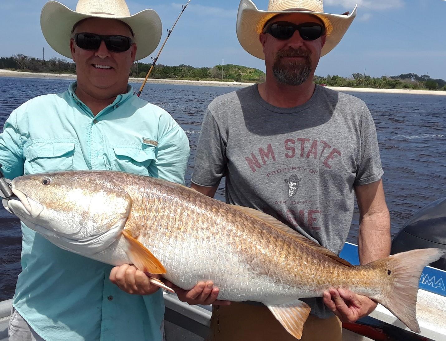 Sipler fishing charter w/ large bull redfish