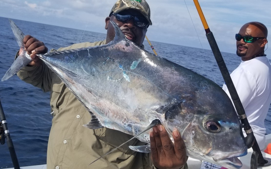 large jack crevalle by Captain Buck Rogers