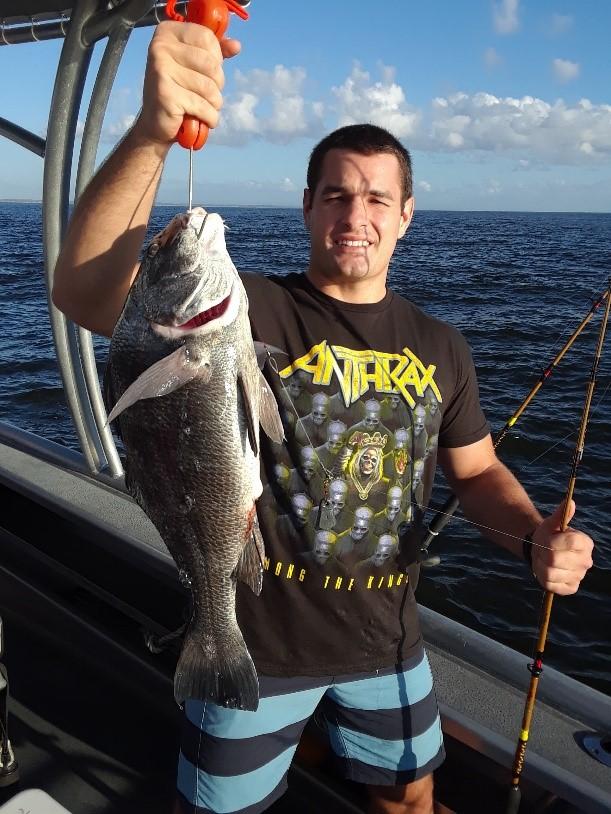 Captain Dave Sipler Charter fishing for black drum