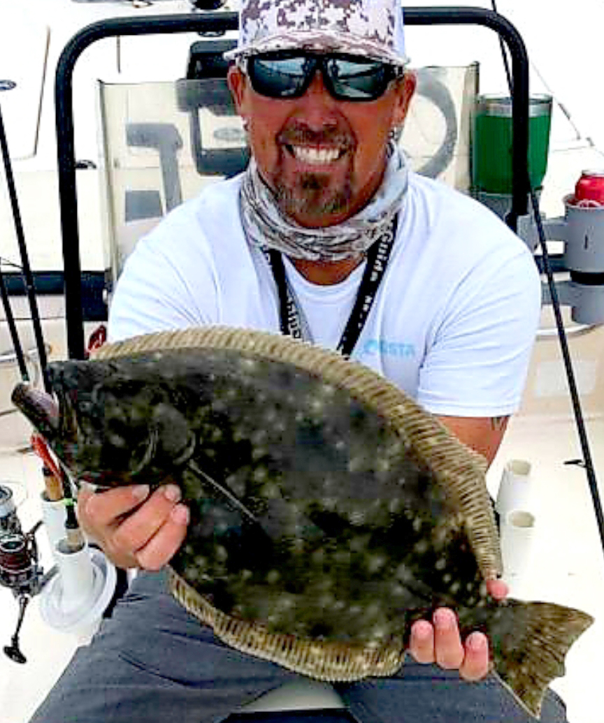Large Flounder caught on Don Taylor's Fishing Charter in Jacksonville