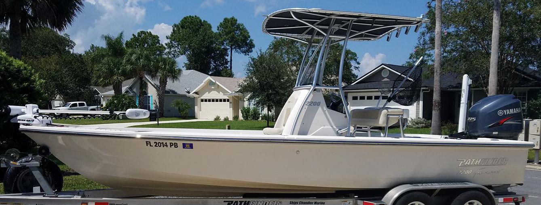 Captain Eggers fishing boat in Jacksonville