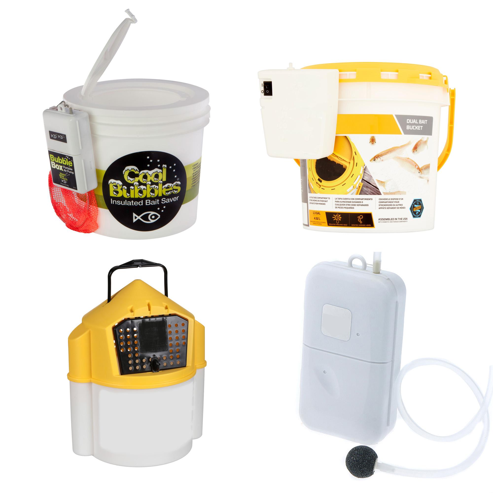 Aerators and bait buckets