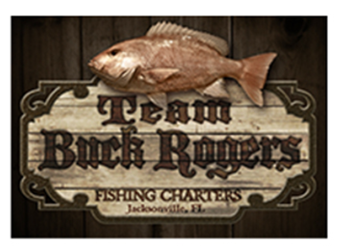 Team Buck Rogers fishing charter logo