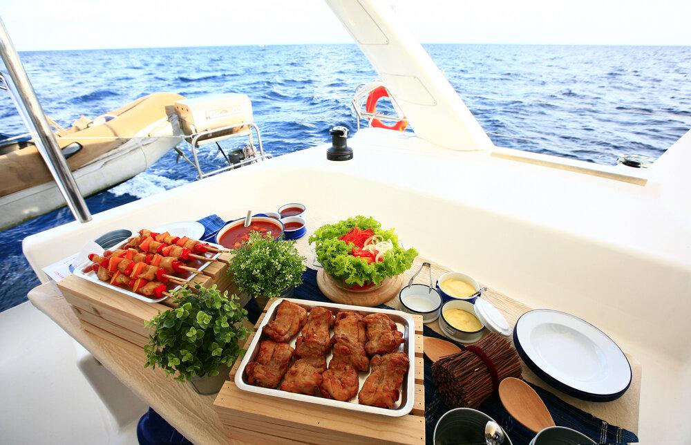 bringing refreshments onboard