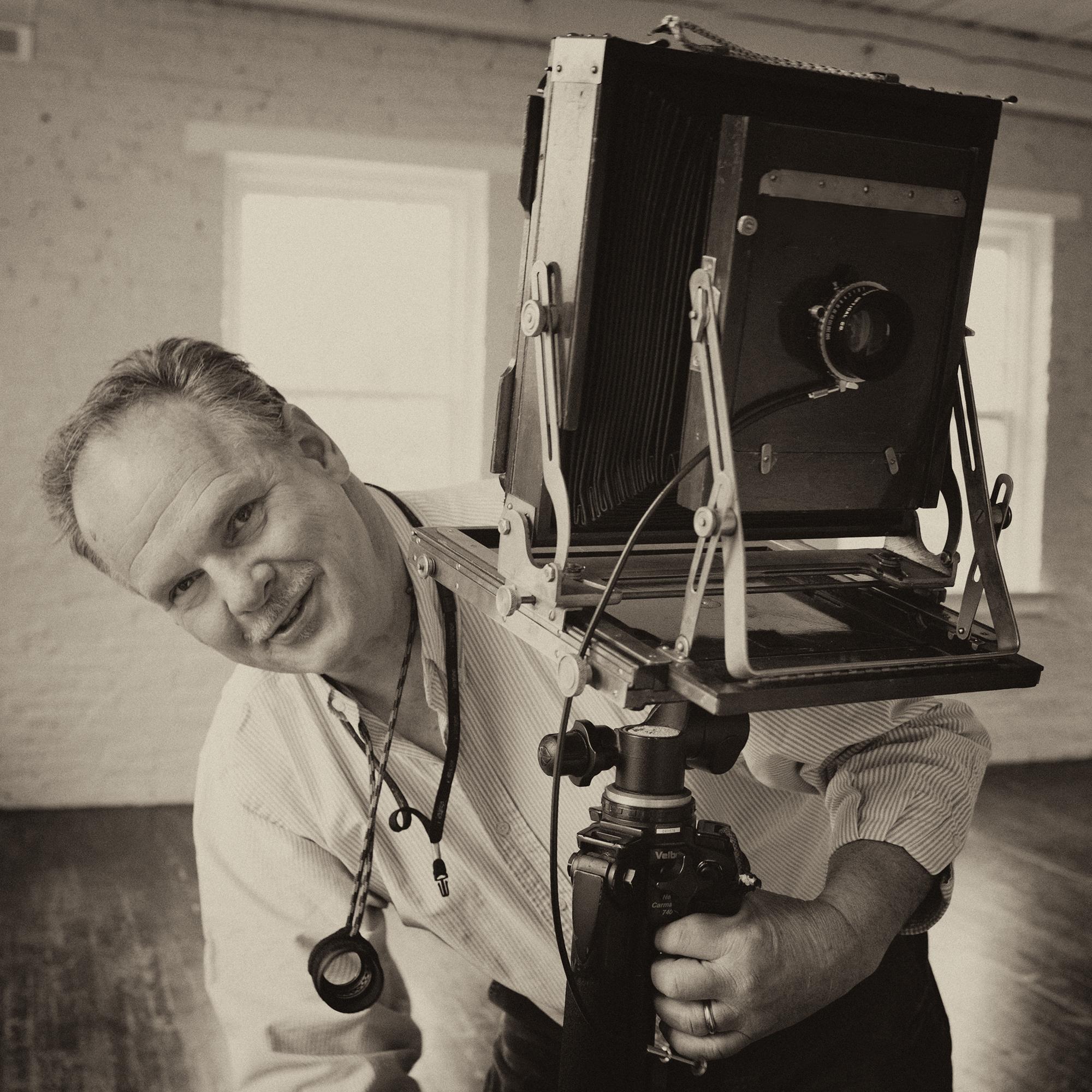90% of my personal work is still on film. Deardorff 8x10 camera.