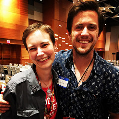 Terri with Pierce Brown, author of Red Rising