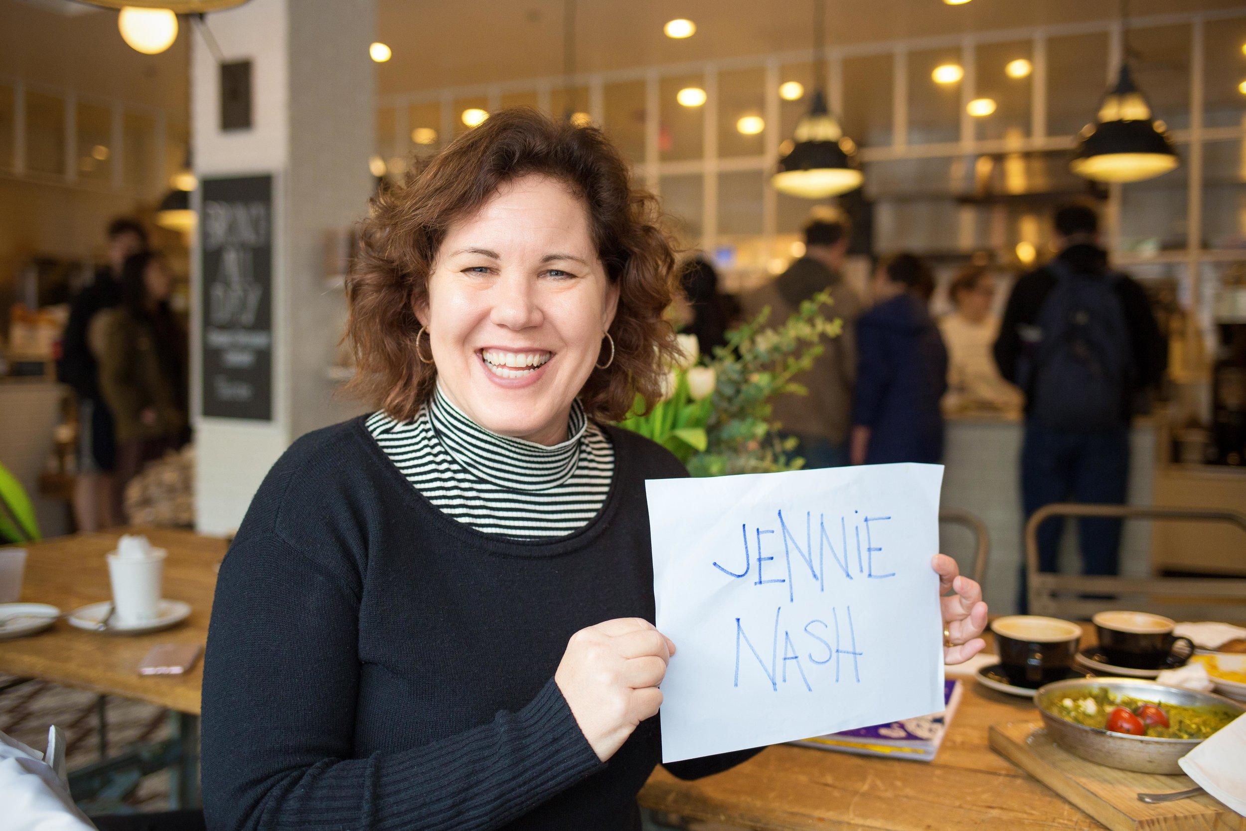 Jennie - holding the